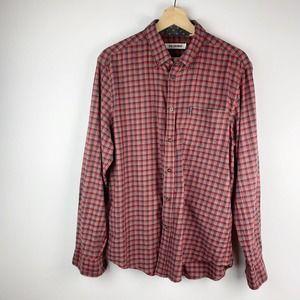 Ben Sherman Red Plaid Button Up Shirt XL